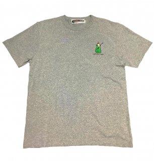 """CRESO""embroidery S/S TEE(GRAY)"