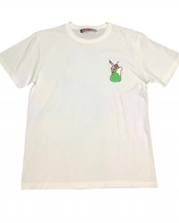 """""""�9""""embroidery S/S TEE(WHITE)"""