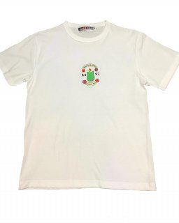 """YUMI ISHIBASI×NERVOUSCAFE""embroidery S/S TEE(WHITE)"