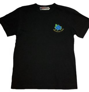 """""""NERVOUSROSE""""embroidery S/S TEE(BLACK)"""