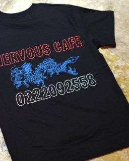 """""""Don't be so nervous""""S/S TEE(BLACK)"""