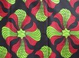 キテンゲ アフリカンプリント 濃紺、赤、黄緑 / Kitenge african  print