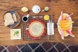 手編み テーブルマット【PETE】赤