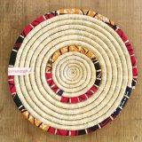 手編み テーブルマット【JICHO】赤