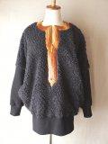 プードルファー ドルマンスリーブニット【黒】/Poodle fur Dolman sleeve knit(size:free)