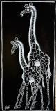 キリン (黒白)ティンガティンガアート /Chado