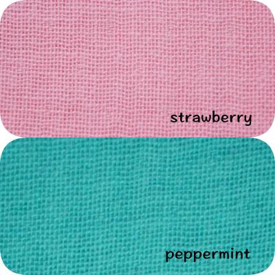 年中使える極みコットンガーゼで気持ちよくリバーシブル<br> Strawberry & Peppermint  極み