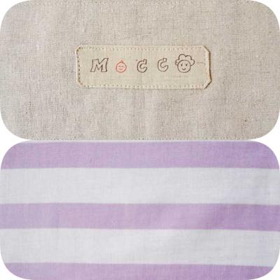 夏向きでも年中使える<br>Linen border  3号   lavender <br> リバーシブルでボーダーが可愛い!