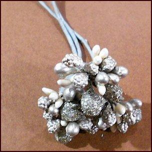 花材 プリザーブド ドライ 造花 フラワーアレンジメント用 ラメボール