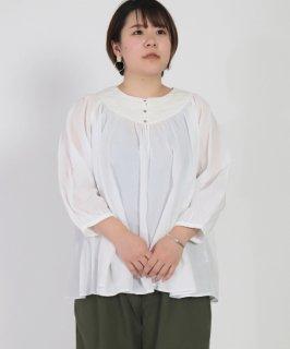 [ Brocante / ブロカント ]<br />60sローン×リネンキャンバス エグリーズシャツ