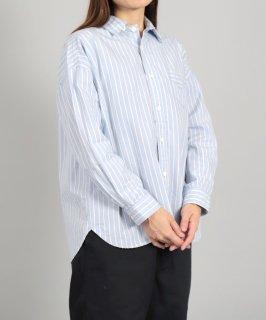 [ OMNIGOD womens / オムニゴッド ]<br />セルヴィッチストライプ ワイドワークシャツ