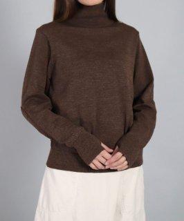 [ OMNIGOD womens / オムニゴッド ]<br />ウォッシャブルニット ミリタリーハイネックネックセーター
