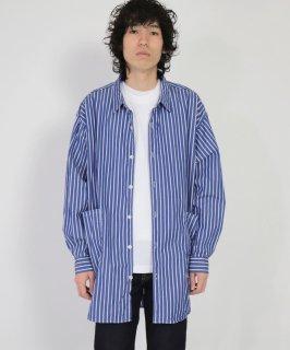 [ SPELLBOUND / スペルバウンド ]<br />ブルーストライプ レギュラーカラーオーバーシャツ