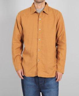[ OMNIGOD mens / オムニゴッド ] リネンキャンバス レギュラーカラーワークシャツ