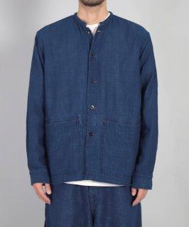[ OMNIGOD mens / オムニゴッド ]<br />インディゴガーゼ ハバナシャツジャケット