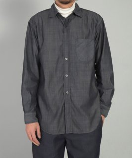 [ OMNIGOD mens / オムニゴッド ]<br />ギザコットンシャンブレー オフィサーシャツ