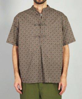 [ OMNIGOD mens / オムニゴッド ]<br />コットンリネンバンダナクロス ショートスリーブエイジアシャツ