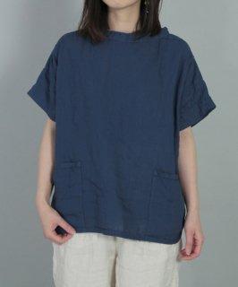 [ OMNIGOD womens / オムニゴッド ]<br />リネンキャンバス ショートスリーブガーデナーシャツ