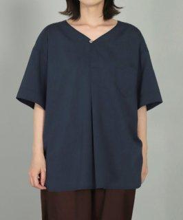 [ OMNIGOD womens / オムニゴッド ]<br />クールマックスストレッチ ショートスリーブスエディッシュスモックシャツ