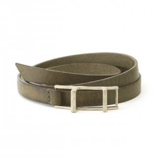 Ladder leather (silver×オリーブグレー) / 1606-004