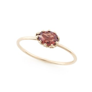 float ring Garnet / 1611-019