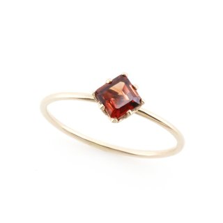 float ring Garnet / 1611-020