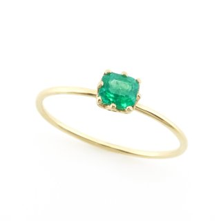 float ring Emerald/ 1611-022