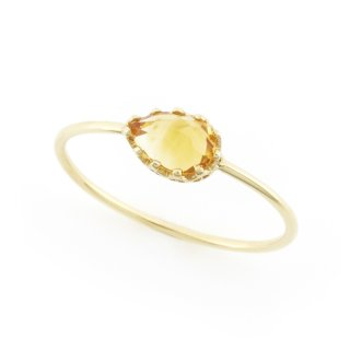 float ring Citrin Quartz/ 1611-023