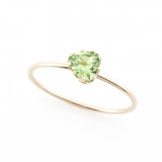 float ring Green Garnet / 1611-024