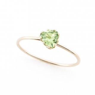 float ring Green Garnet / 1611-024