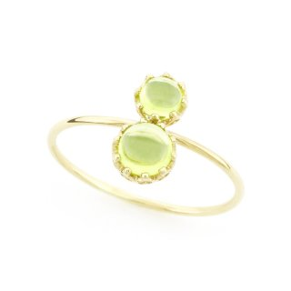 float ring Peridot / 1611-025