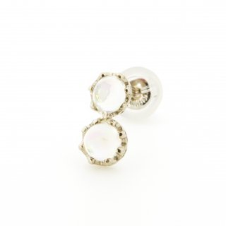 studded  Pierce twin Opal / 1703-006
