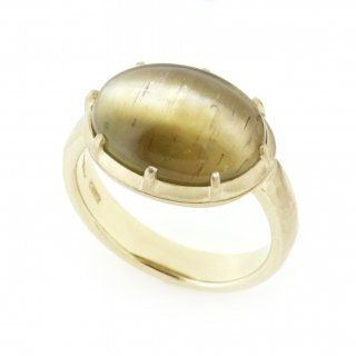 Cut Down Ring Apatite Cat's Eye / 1707-001
