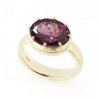 Cut Down Ring Garnet / 1707-002