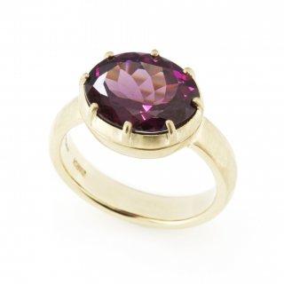 Cut Down Ring Garnet / 1707-002