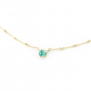 float necklace Emerald/ 1711-007