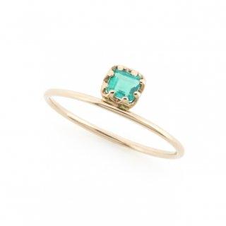 float ring Emerald/ 1711-004