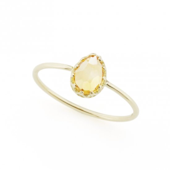 float ring Citrin Quartz/ 1803-002
