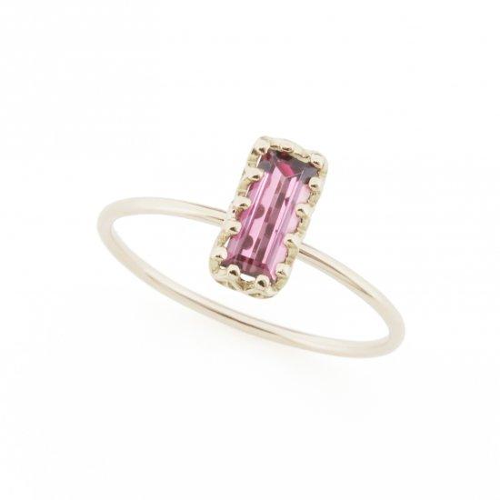 float ring Garnet / 1803-005