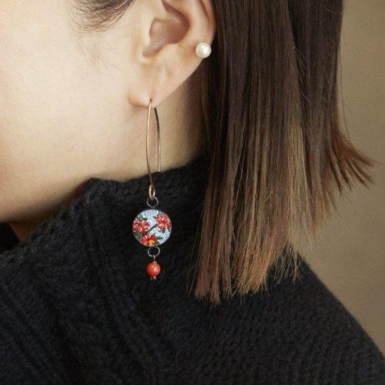 Hokusai Flowers/earring(mono)/S1803-011