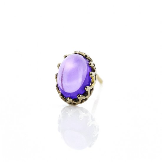 studded  Pierce Amethyst/1805-018