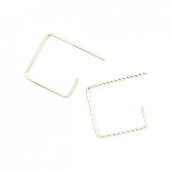 Square  Pierce-t(s) K18WG / 1806-027