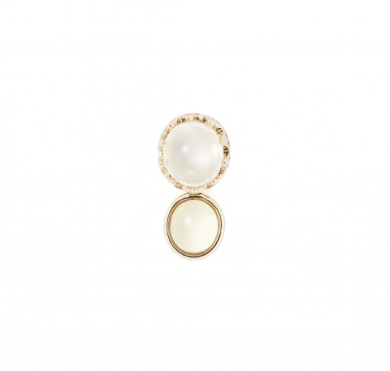 studded Pierce twin Opal / 1806-032