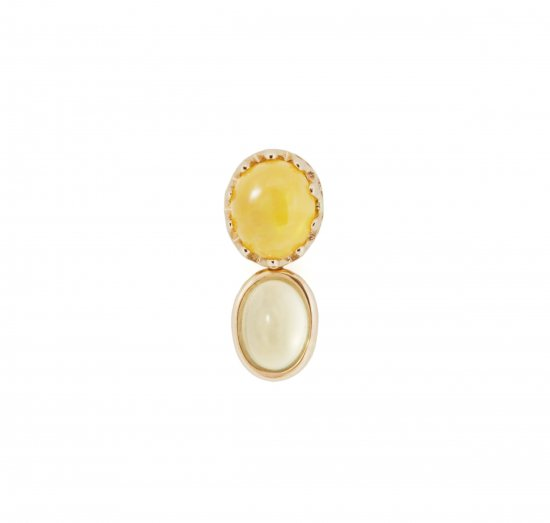 studded Pierce twin Opal / 1806-033