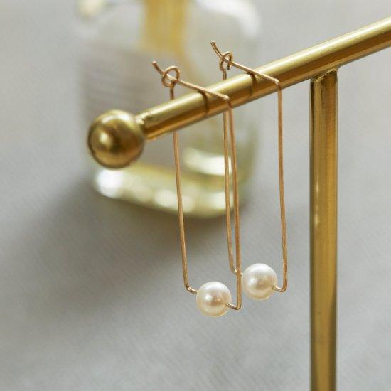Euco LINE akoya pearl Pierce / line_p_M
