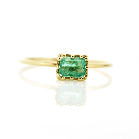 float ring Emerald / 1811-002
