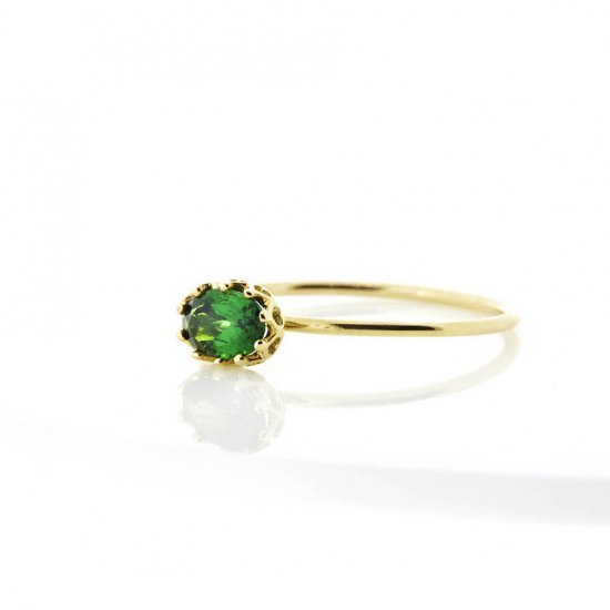 float ring Green Garnet / 1811-003