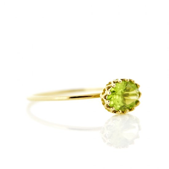 float ring Peridot / 1811-005