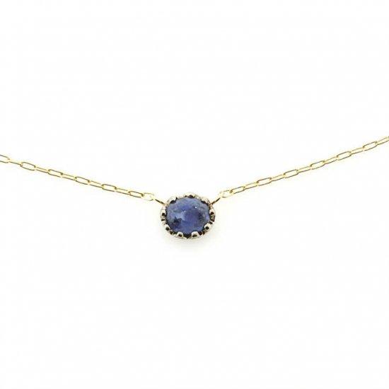 float necklace Sapphire/ 1811-025