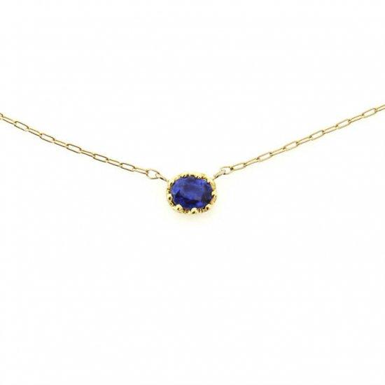 float necklace Sapphire/ 1811-026